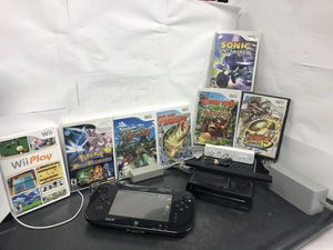 Nintendo Wii U with controller wii controller sensor 7 games and chargers for Sale in Hollywood, FL