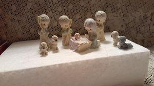 Precious Moments 9 Piece nativity set 1989 for Sale in Modesto, CA
