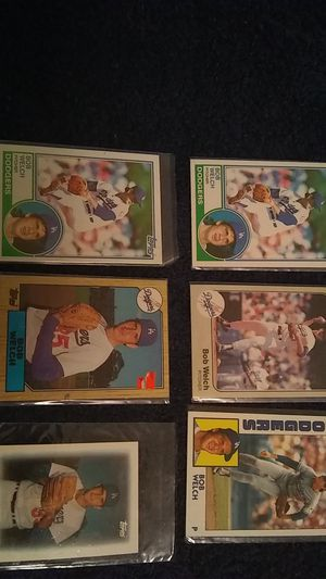 BOB WELCH BASEBALL CARDS for Sale in Cleveland, OH