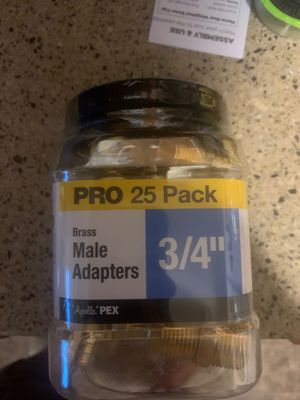 Apollo Pro Pack 3/4 Brass Male Adapters for Sale in Catonsville, MD