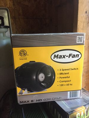 Max Fan in-line fan for Sale in Sumner, WA