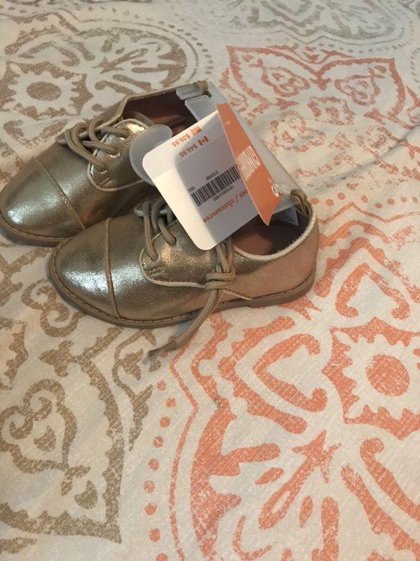 Gymboree gold Oxford shoes