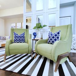 Set of 2 Beautiful Accent Arm Chairs living room. Price For both for Sale in Auburn,  WA