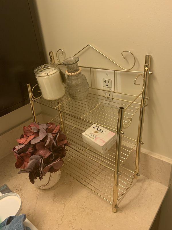 Vintage Gold Decorative Bathroom Beauty holder