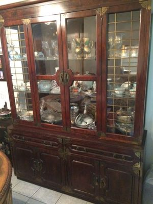 Solid Maple China Cabinet! Antique! for Sale in Los Angeles, CA