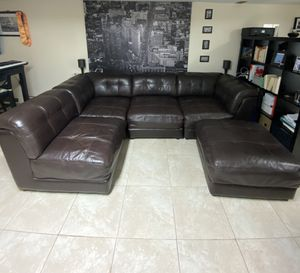 Clark Leather Sectional for Sale in Brooklyn, NY