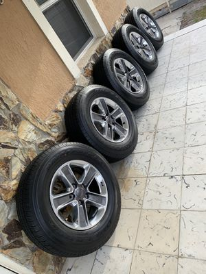 """New Jeep Wrangler rims 18"""" wheels with Bridgestone tires. Fits all wrangler 2007 to 2020. for Sale in West Miami, FL"""