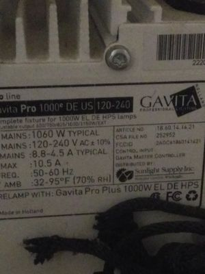 2 Gavita 1060 watts $400 obo for Sale in Oroville, CA