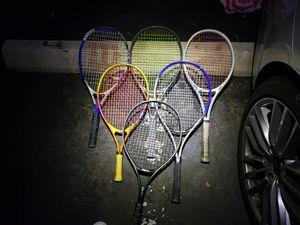 6 Tennis rackets used bit in good shape for Sale in Encinitas, CA