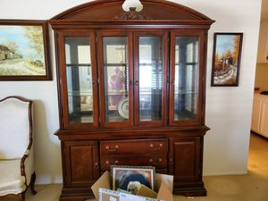 FREE Estate Furniture, Antiques, China Hutch, Desk Lamps, End Tables for Sale in San Diego, CA