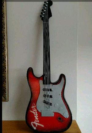New metal music decor large FENDER Guitar sign for Sale in Hudson, OH