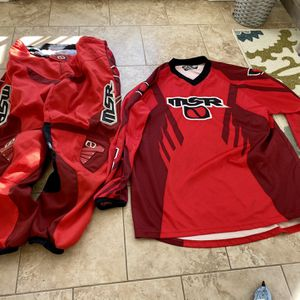 MSR XXL Motorcross pants and shirt RED for Sale in Wayne, NJ