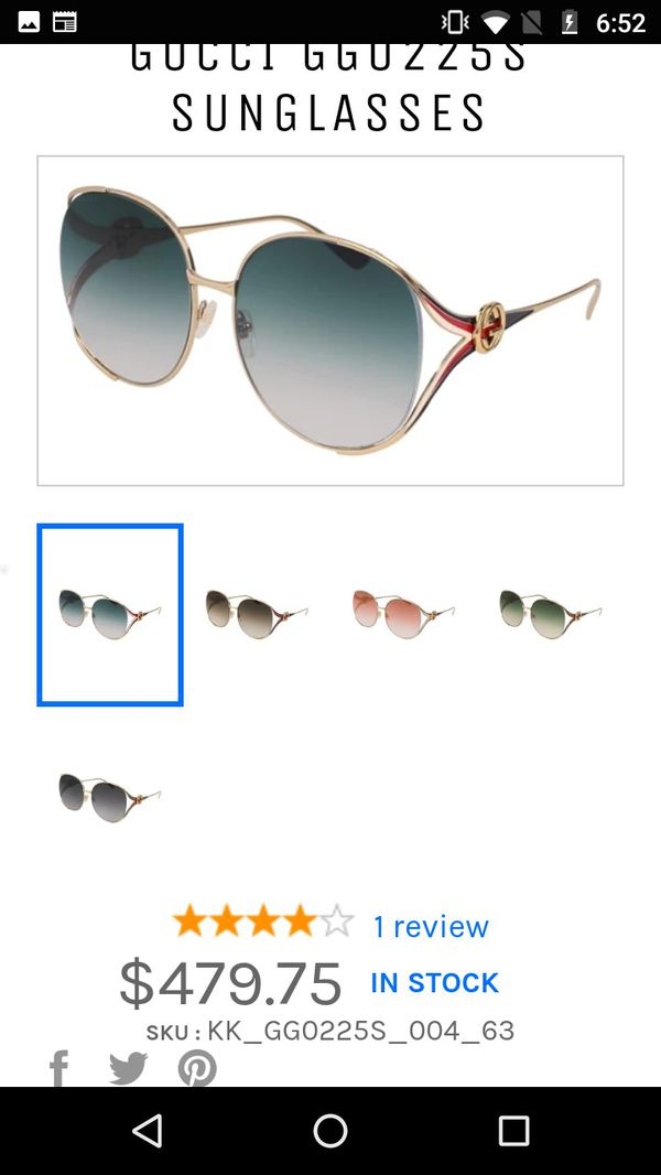 Real Gucci sunglasses serial numbers on glasses