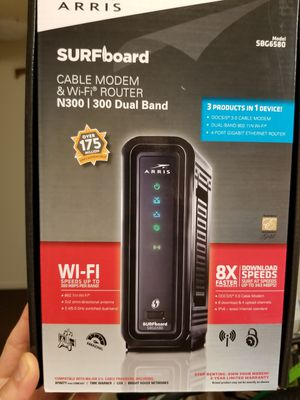 REDUCED Arris Surfboard Cable Modem & Wi-fi Router Model SBG6580 for Sale in Albany, CA