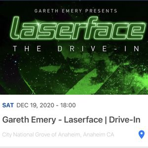 Gareth Emery Laserface GA Drive-In Ticket For SAT, 12/19 for Sale in Santa Ana, CA
