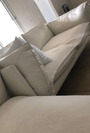 White leather couches for Sale in El Cajon, CA