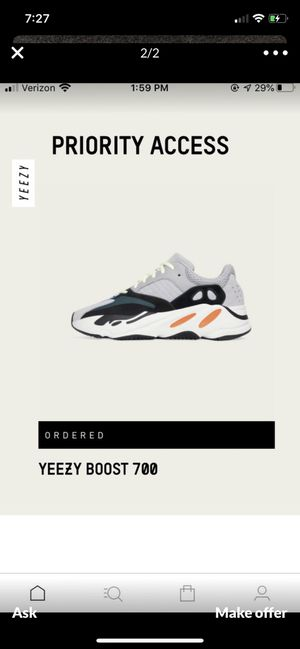 YEEZY BOOST 700 WAVE RUNNER size 9 solid grey chalk white core black adidas for Sale in Long Beach, CA