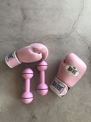 Boxing gloves and weights for Sale in Grover Beach, CA