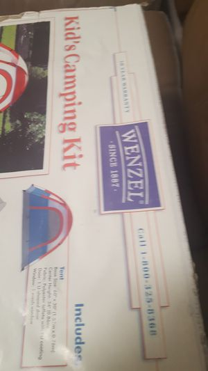 NIB Wenzel kid's camping kit for Sale in Palm Harbor, FL