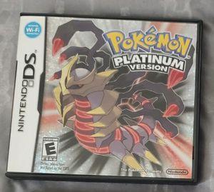 Nintendo DS Pokemon Platinum Version for Sale in Fresno, CA