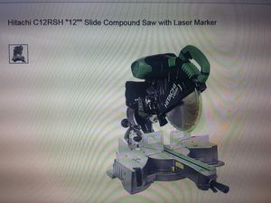 Hitachi Compound Miter saw with Rigid stand (Must see) for Sale in Fort Lauderdale, FL