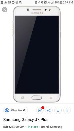 Samsung j7 plus for Sale in Grosse Pointe Park, MI