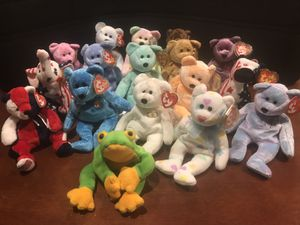 17x Vintage Beanie Babies $4 Each for Sale in Arnold, MO