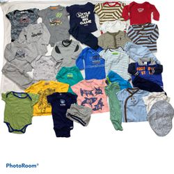 30 Piece Baby Boy Bundle Sizes Vary 3 & 6 Mo for Sale in Pittsburg, CA