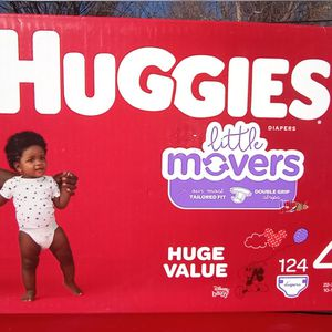Huggies Little Movers Diapers 124 Count Size 4 for Sale in South Salt Lake, UT