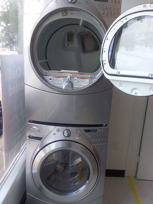 Whirlpool washer and gas dryer used good condition 90days warranty for Sale in Mount Rainier, MD