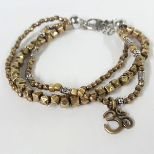 Multi-Strand Beaded Bracelet with Om Charm for Sale in Aurora, OH
