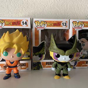 Pop Figures Dragon Ball Z Goku, Vegeta, Cell for Sale in Carson, CA
