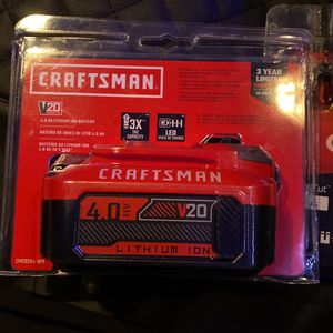 Craftsman 4.0 Lithium Battery for Sale in Pasadena, CA