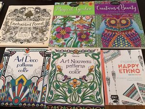 Good set of 6 amazing coloring books!!! for Sale in Brookline, MA