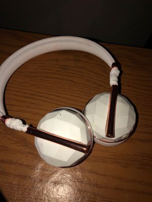 WhiteWhite and gold Bluetooth headphones for Sale in Columbus, OH