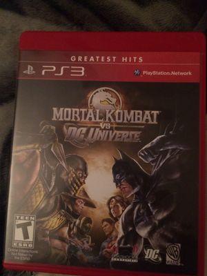 Mortal kombat vs D.C. Universe PS3 for Sale in Fontana, CA