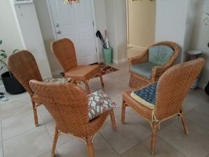 5 vintage Rattan chair for Sale in Fremont, CA