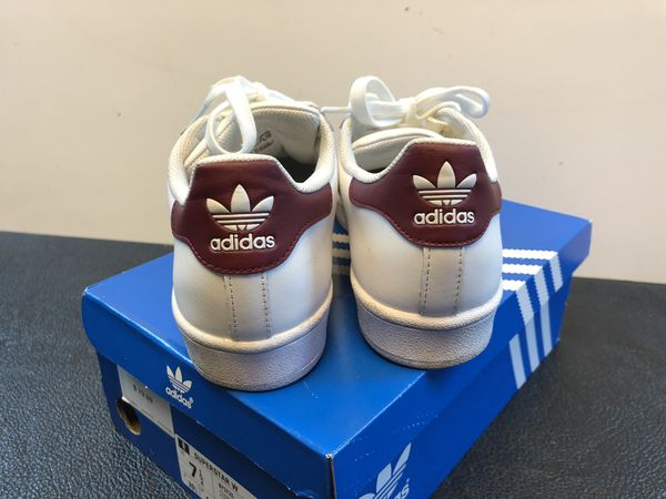 Adidas Superstar VULC ADV Shoes in White & Burgundy sz 7.5. Excellent condition in original box. See pictures. Price is firm for Sale in San Antonio,