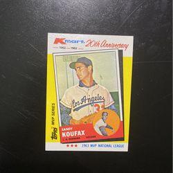 1963 Sandy Koufax Topps K Mart 20th Anniversary Baseball Card for Sale in Hillsboro,  OR