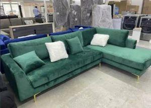 Brand New Green Velvet Sectional Sofa for Sale in Austin, TX