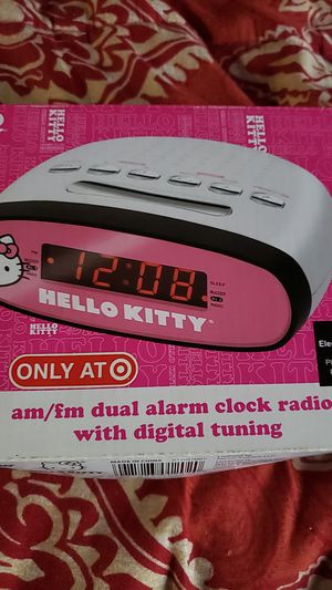 Hello kitty am/FM dual alarm clock for Sale in Oceanside, CA