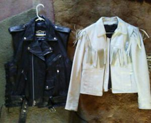 Leather jacket and vest for Sale in Beaver, WV