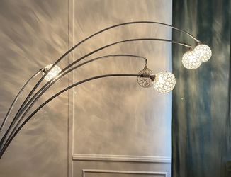 Arched Glass Floor Lamp Marble Base for Sale in Los Angeles,  CA