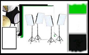 18 kit STUDIO EQUIPMENT SET 4 soft box lighting kit 3 backdrops + MORE for Sale in Pasadena, CA