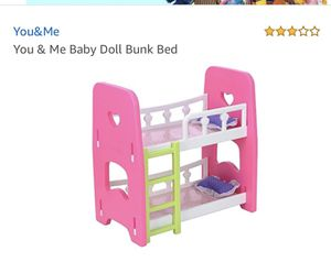You and me baby doll bunk bed for Sale in Alexandria, VA