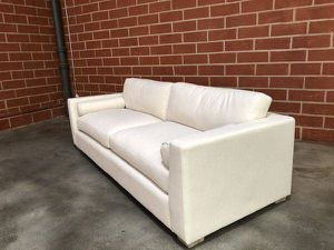 8' Restoration Hardware Cloud Sofa Couch - Performance Fabric - $1200 for Sale in Los Angeles, CA