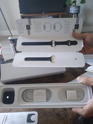 iPhone watch brand new 400 brand newIon x glass composite back GPS we 50m series 3 38mm aluminum case for Sale in Katy, TX