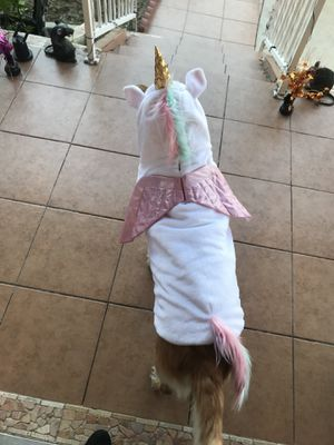 Unicorn costume for dog for Sale in Los Angeles, CA