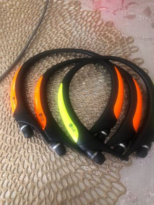 LG Tone Active Premium Bluetooth Headset Sports HBS850 - GENUINE .orange for Sale in Fort Worth, TX