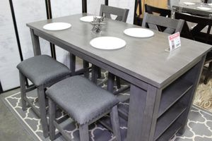 5 PC Counter Height Dining Set, Grey for Sale in Norwalk, CA